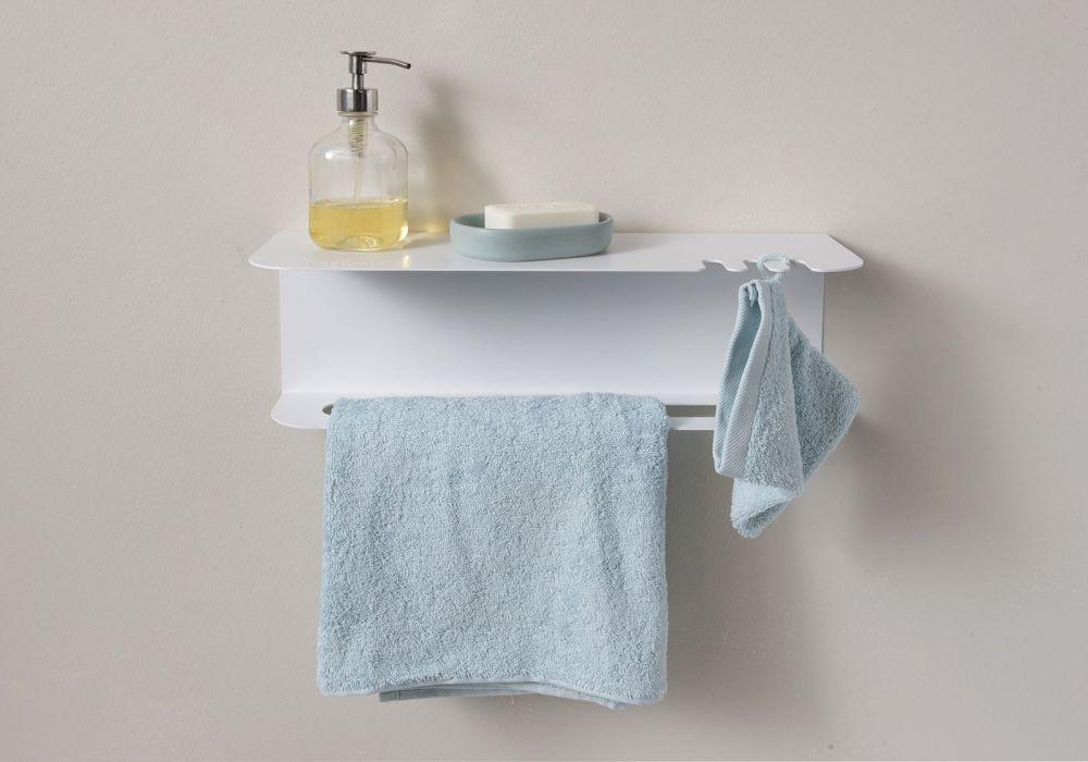 Porta asciugamani teetow 45 cm for Mensole angolari per bagno
