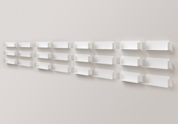 "Mensola modulare ""U"" - 60 cm - Set di 24 - Acciao"