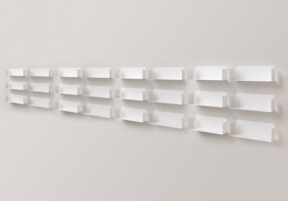 """Modulares Regalsystem """"U"""" - Satz von 24 - 60 cm - Stahl"""