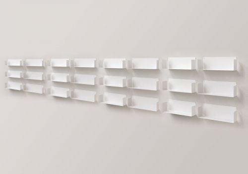 """Juego de 6 estante de pared """"U"""" - 60 cm"""