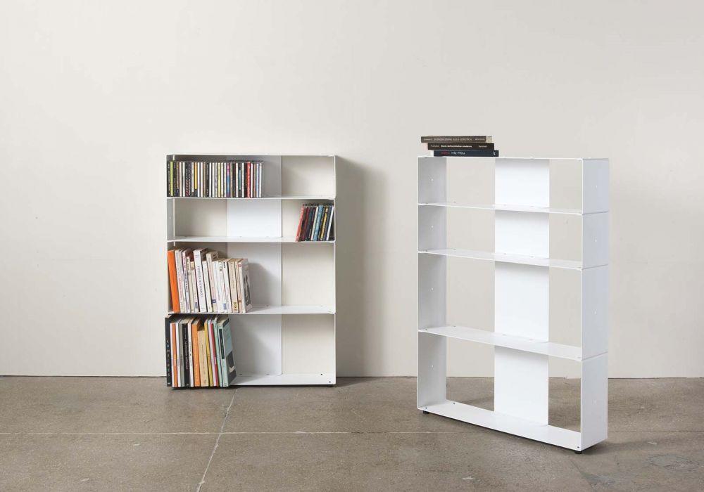 Libreria di design per libri & cds L60 H80 P15 cm - 4 livelli