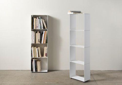Bibliothèque livre 4 niveaux 30x100x15 cm