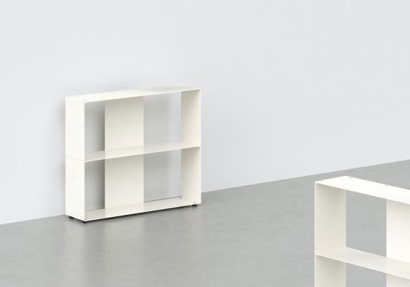 Mobile libreria 60 cm - metallo bianco - 2 livelli