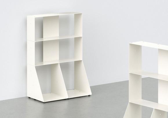 Mobile Libreria 60 cm - metallo bianco - 3 livelli