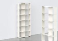 Bücherregal weiß 6 ablagen B60 H150 T15 cm