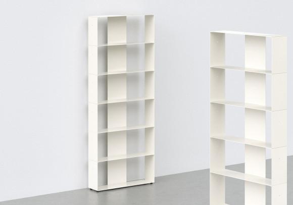 Bücherschrank weiß 6 ablagen B60 H150 T15 cm