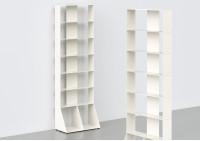 Bibliothèque colonne - métal blanc L60 H185 P32 cm - 7 niveaux