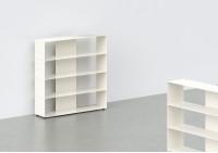 Range cd - métal blanc L60 H60 P15 cm - 4 niveaux
