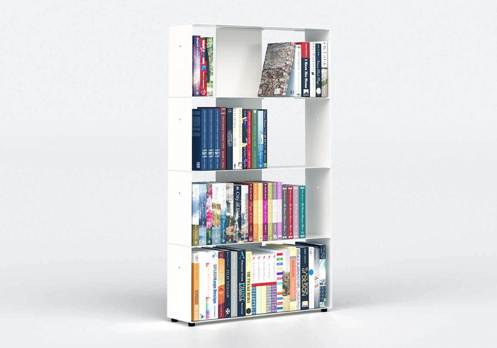 Librerias muebles 60 cm - metal blanco - 4 niveles