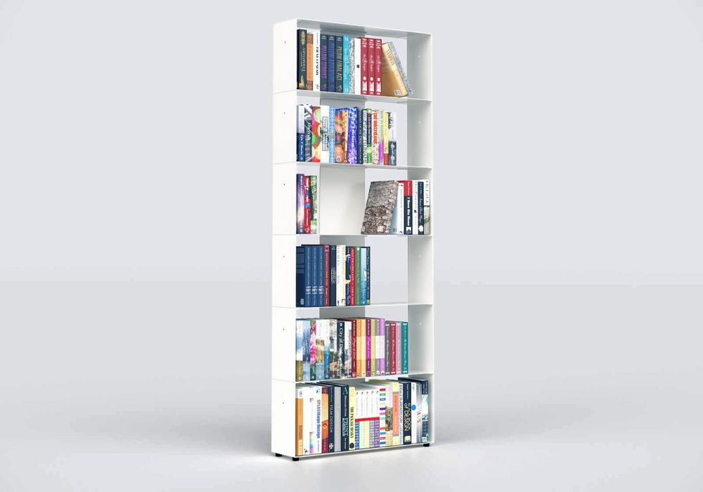 Librerie moderne 60 cm - metallo bianco - 6 livelli