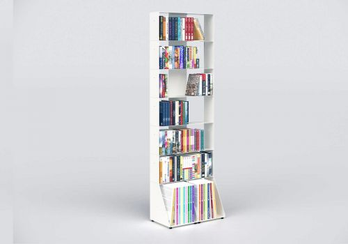 Narrow Bookshelf W60 H185 D32 cm - 7 shelves