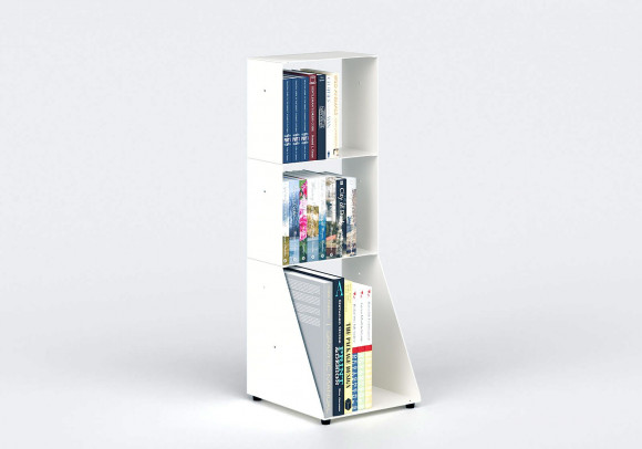 Small Bookcase W30 H85 D32 cm - 3 shelves