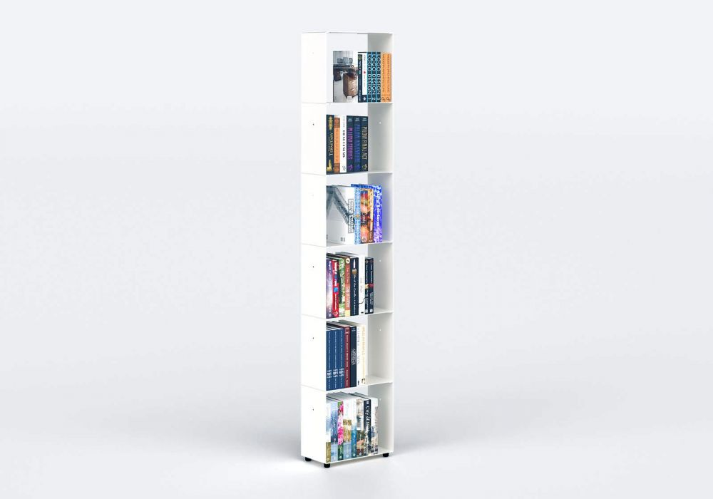 Narrow Bookcase W30 H150 D15 cm - 6 shelves