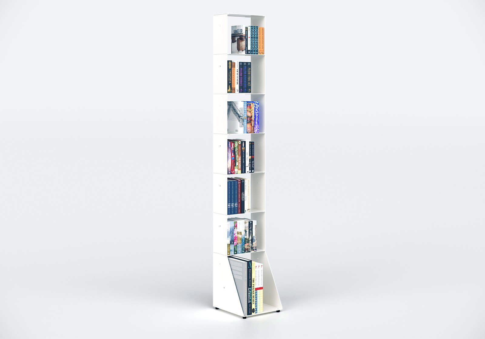 Librerias muebles 30 cm - metal blanco - 7 niveles