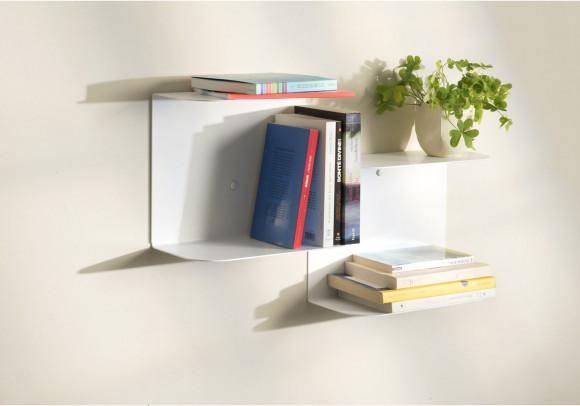 Mensola design bianca - L60 cm