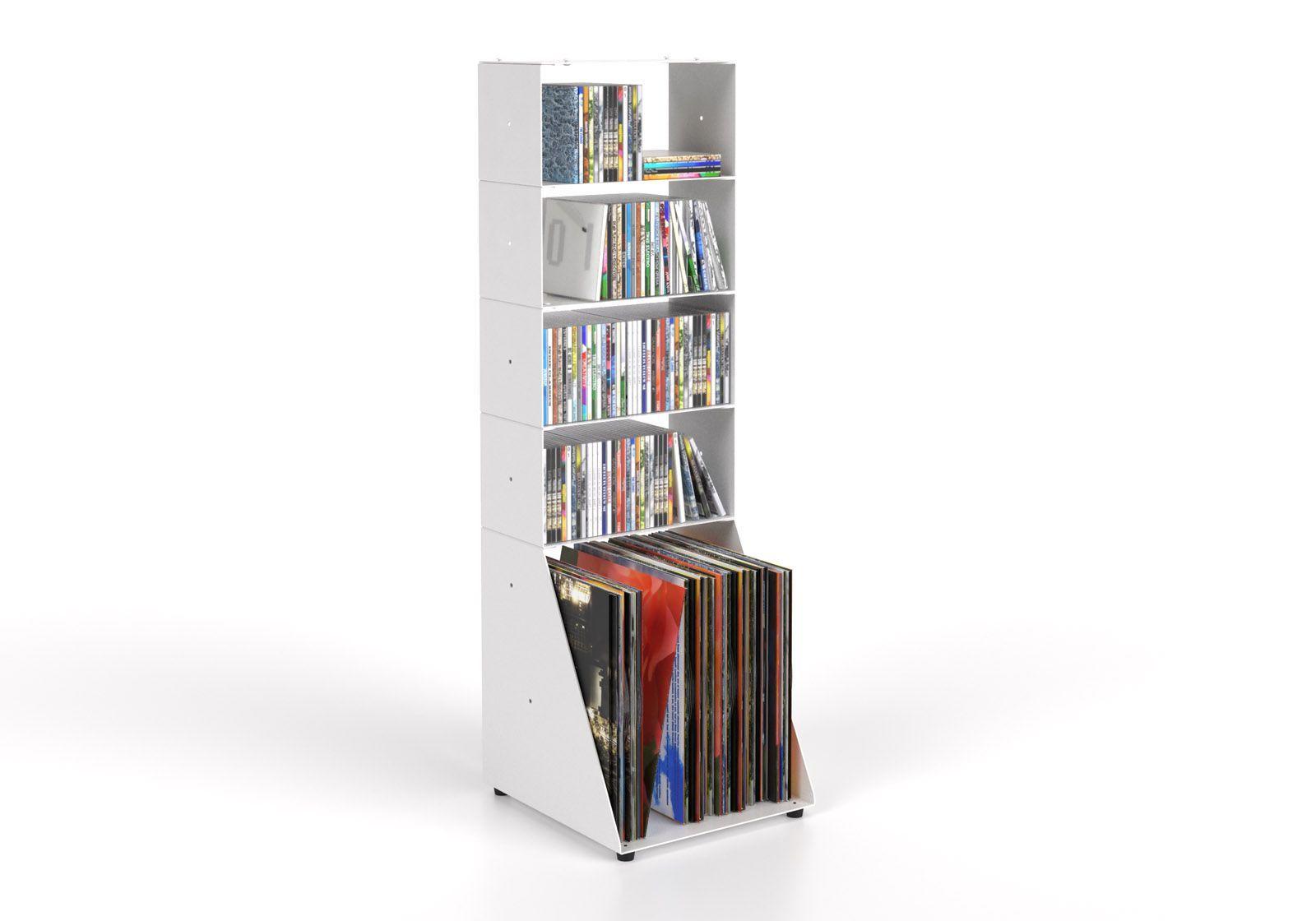 Cd & vinyl storage W30 H95 D32 cm - 5 shelves