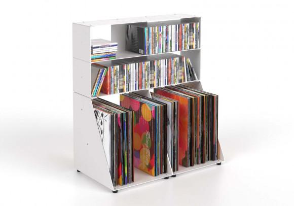 Porta CD & Vinili 3 livelli L60 H65 L32 cm