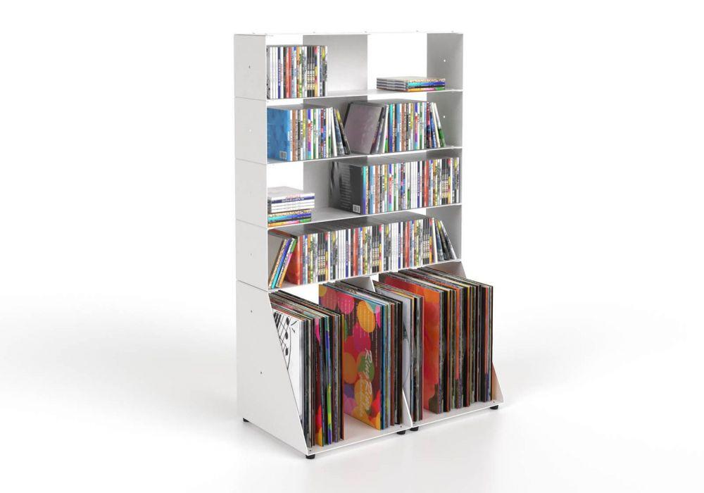Cd & vinyl storage W60 H95 D32 cm - 5 shelves