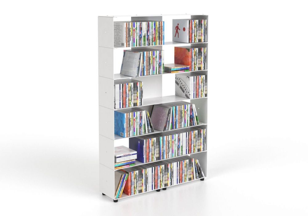 CD storage W60 H90 D15 cm - 6 shelves