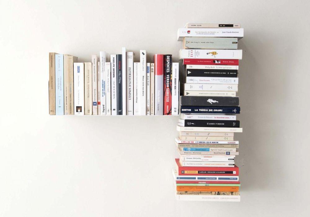"""Estante asimétrico para libros """"T"""" IZQUIERDA"""