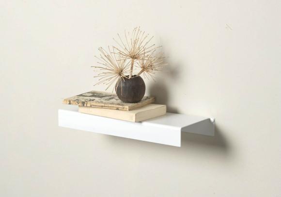 Wall Shelf - white metal 17,72 inch