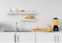 Estantería de pared de diseño - metal blanco 45 cm
