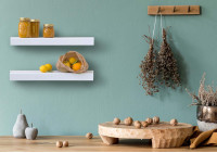 Wall Shelf - white metal 45 cm