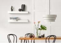 Étagère murale design - blanc en métal 60 cm