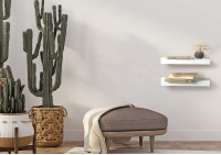 Estantería de pared de diseño - metal blanco 60 cm