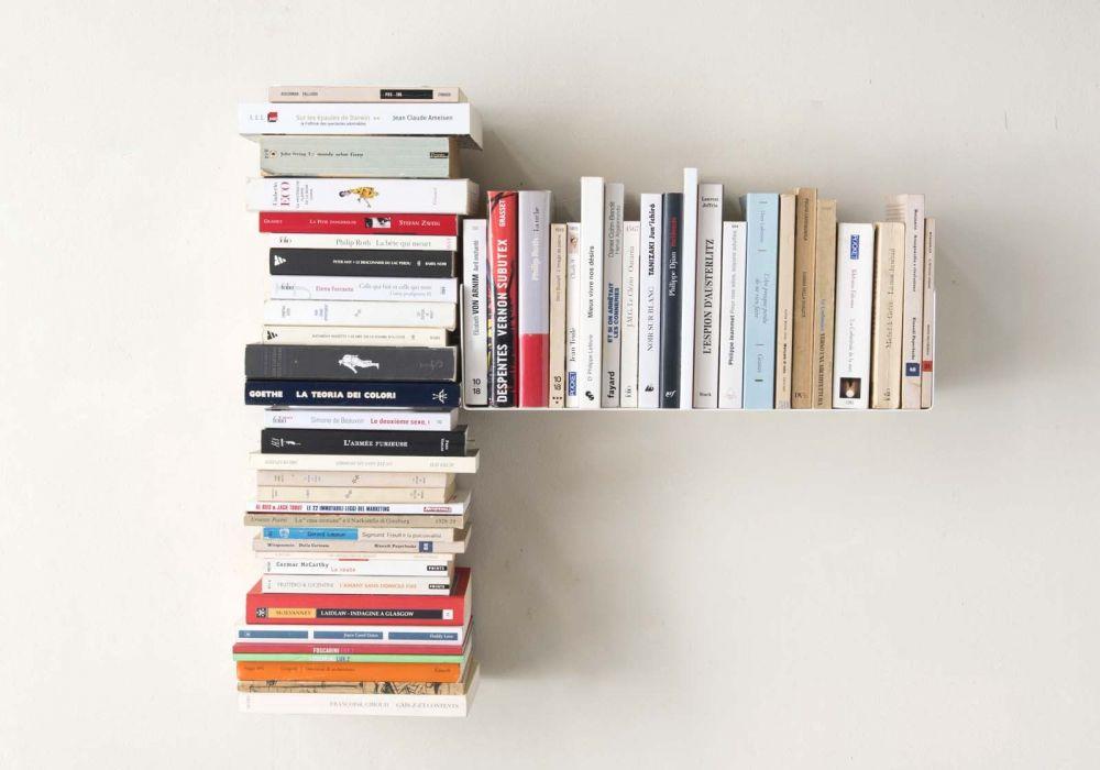 """Estante asimétrico para libros """"T"""" DERECHO"""