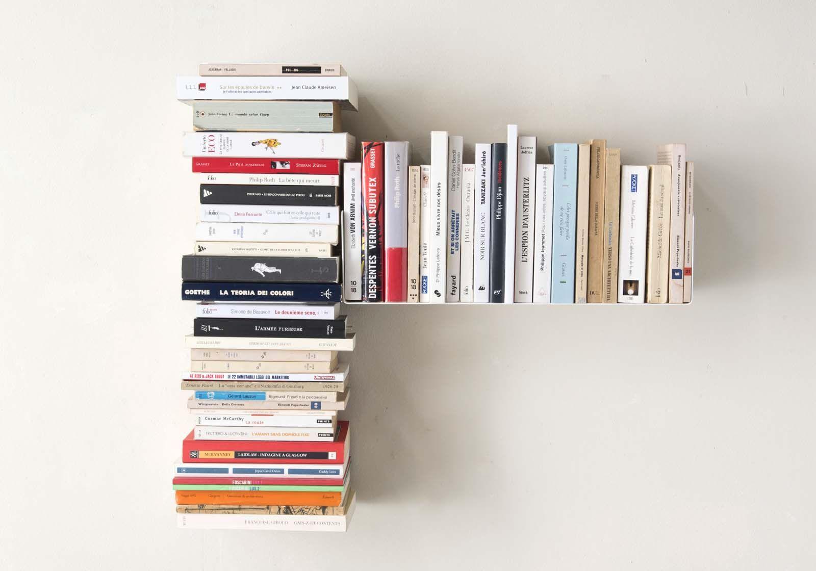 """Asymmetrisches Bücherregal """"T"""" RECHTS - 60x60 cm - Stahl"""