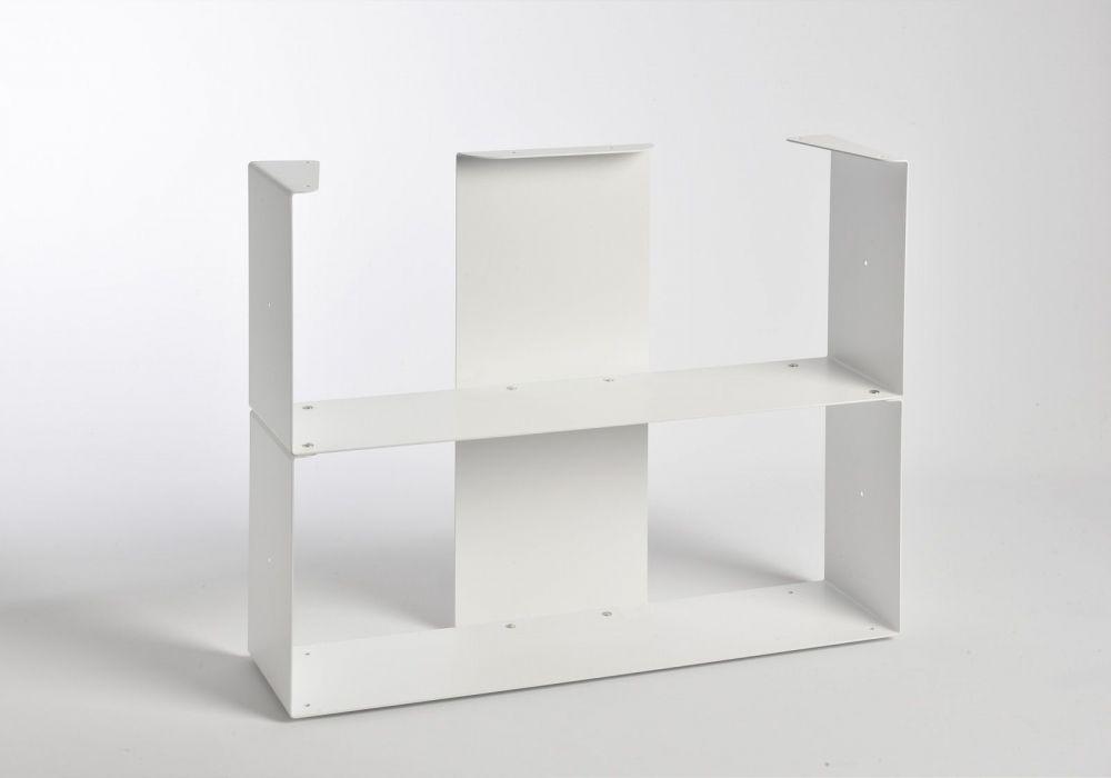 Bibliothèque basse 60 cm - 2 niveaux - Sans Top