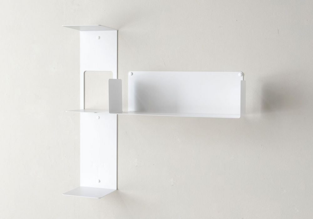 "Mensola modulare ""T"" asimmetrica DESTRA - 60x60 cm - Acciaio"