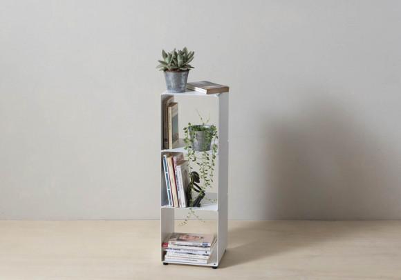 Mensola cubo - Mobile colonna in acciaio - 3 livelli