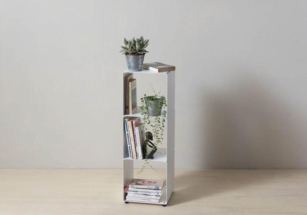 Würfelregal – Stahlsäulenmöbel – 2 ablagen