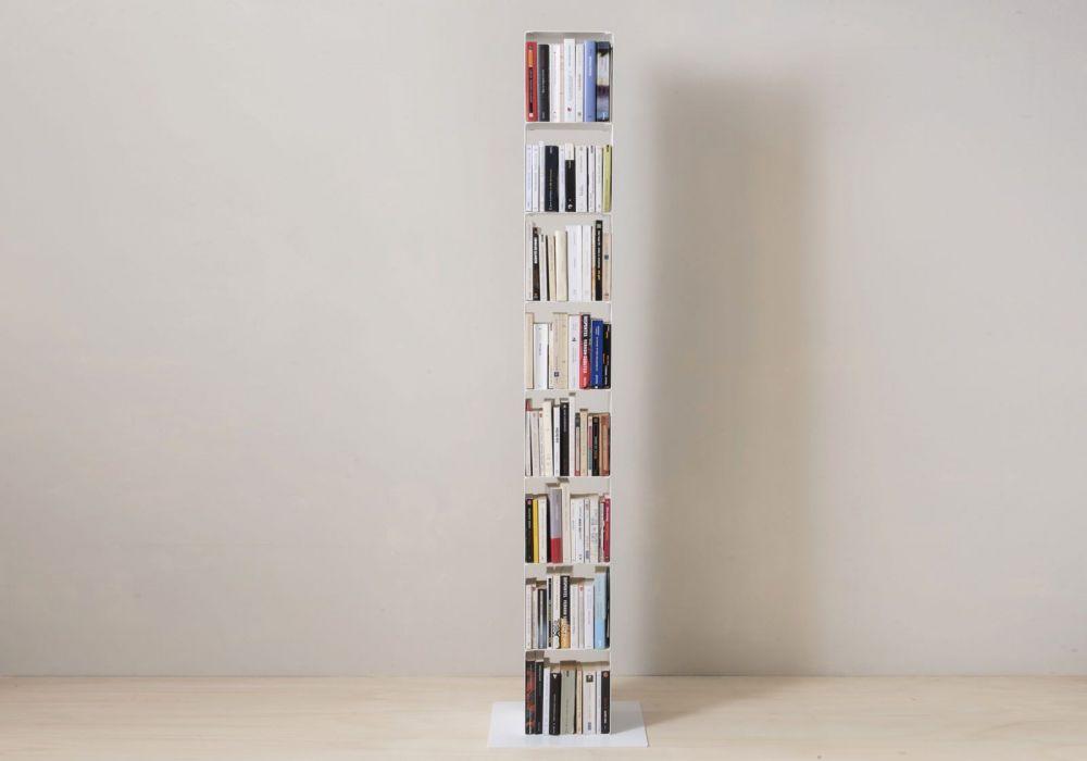 Mensola cubo - Mobile colonna in acciaio - 8 livelli