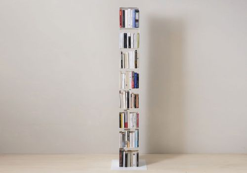 Cube shelf - Steel column storage - 8 shelves