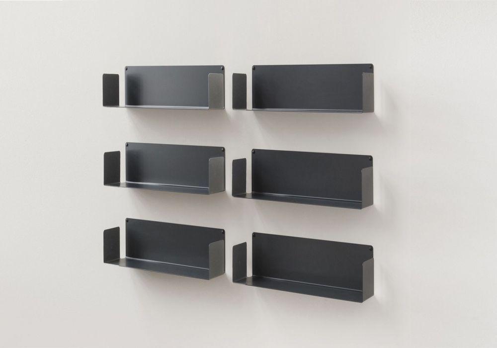 """Modulares Regalsystem """"US"""" - 45 cm - Satz von 6 - Stahl"""