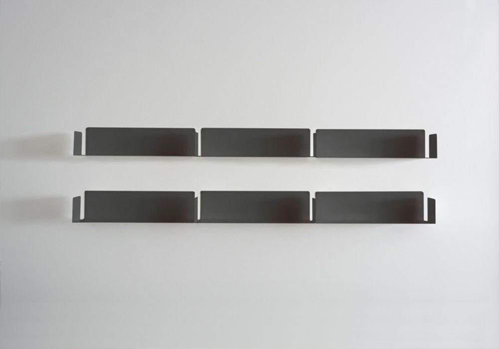 "Bücherregal Design ""LINEAIRE"" Grau"