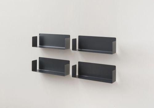CD-Regalen USCD  Set mit 4 - 45 cm - Stahl