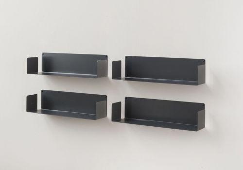 Étagère range CD UCD - Lot de 4 - 60 cm - Acier