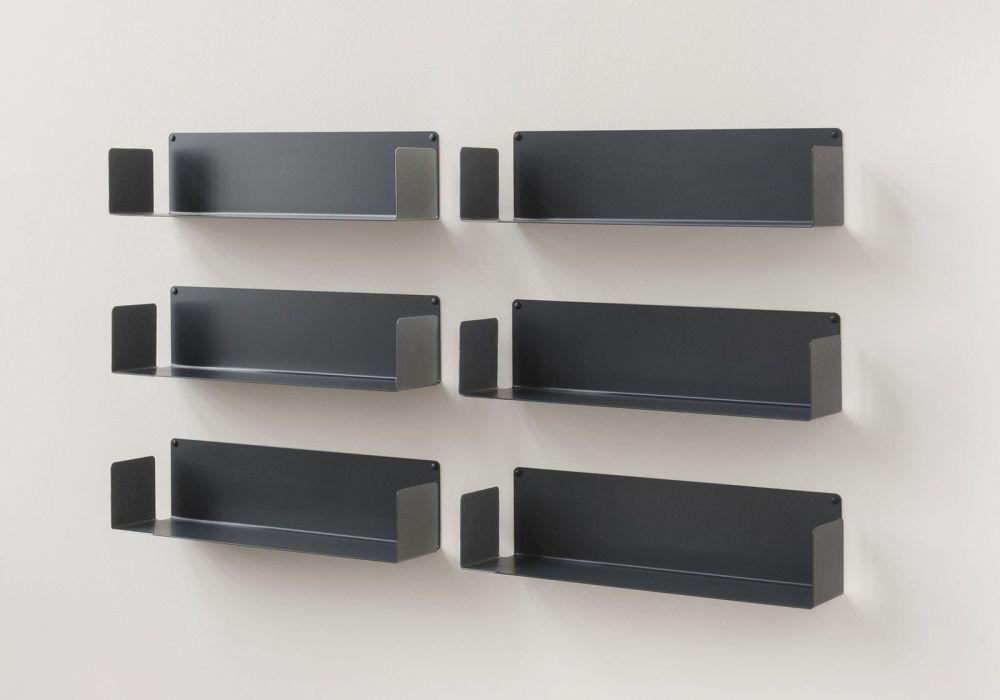 CD-Regalen - Set mit 6 - 60 cm - Stahl