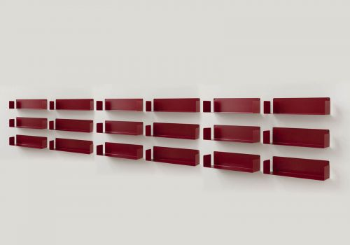 Bookcase Red - 60 cm - Set...
